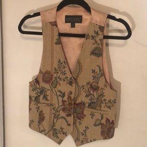 Vintage Tapestry Floral Vest